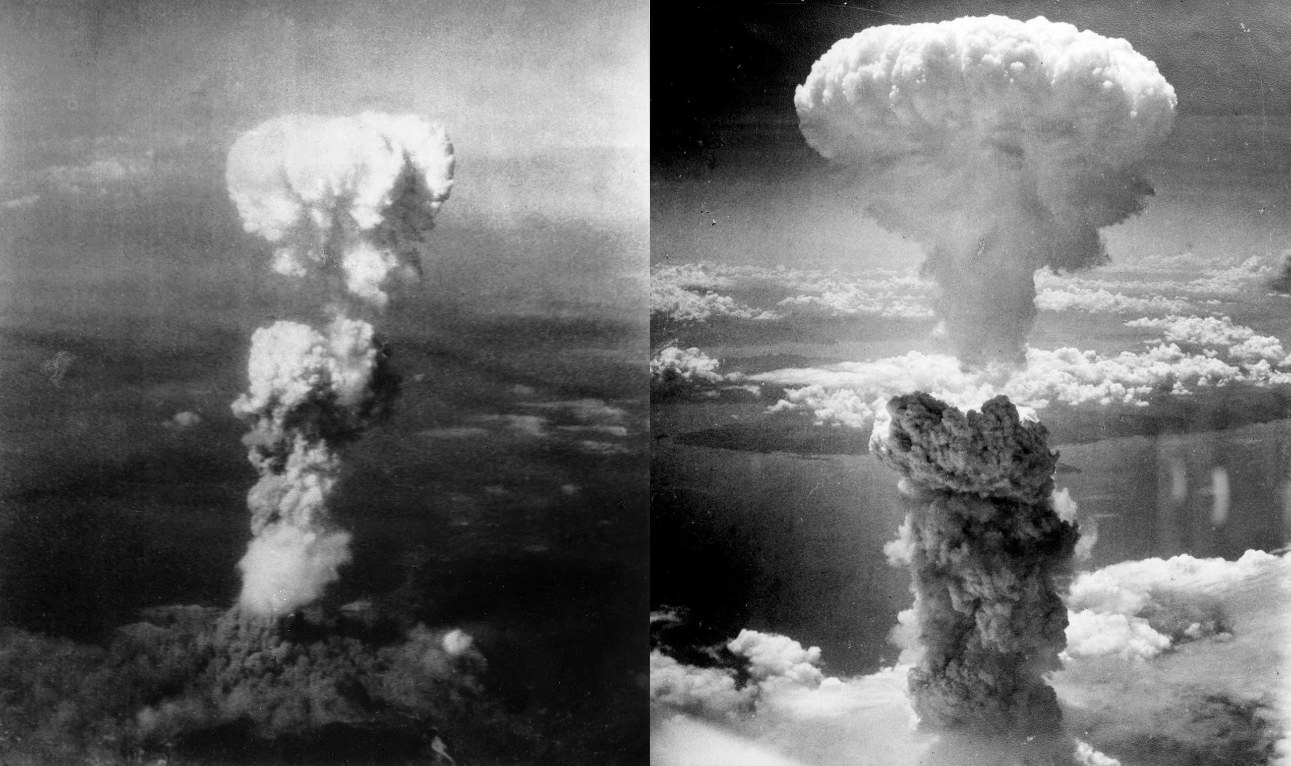 صور لانفجار القنابل النووية بكل من هيروشيما وناغازاكي
